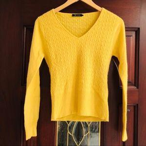 Cashmere Yellow Knit Sweater